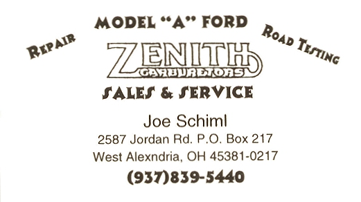 Joe Schiml Rebuilt Zenith Carburetors Banner